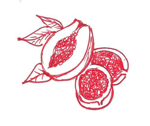 papaya e frutto della passione
