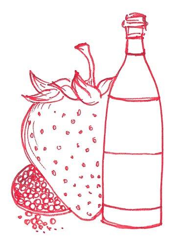 fragole vino rosso e pepe