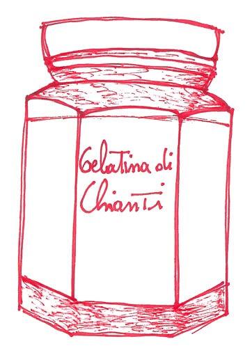 gelatina chianti