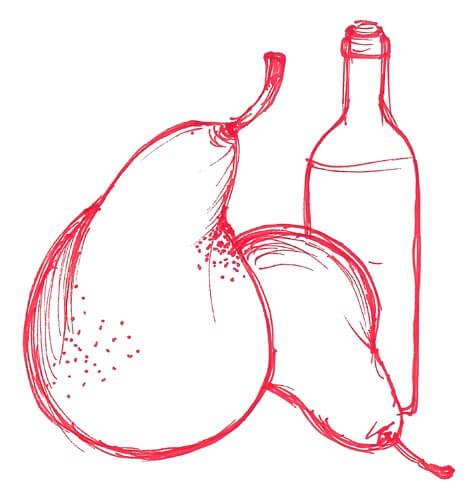 pere vino rosso